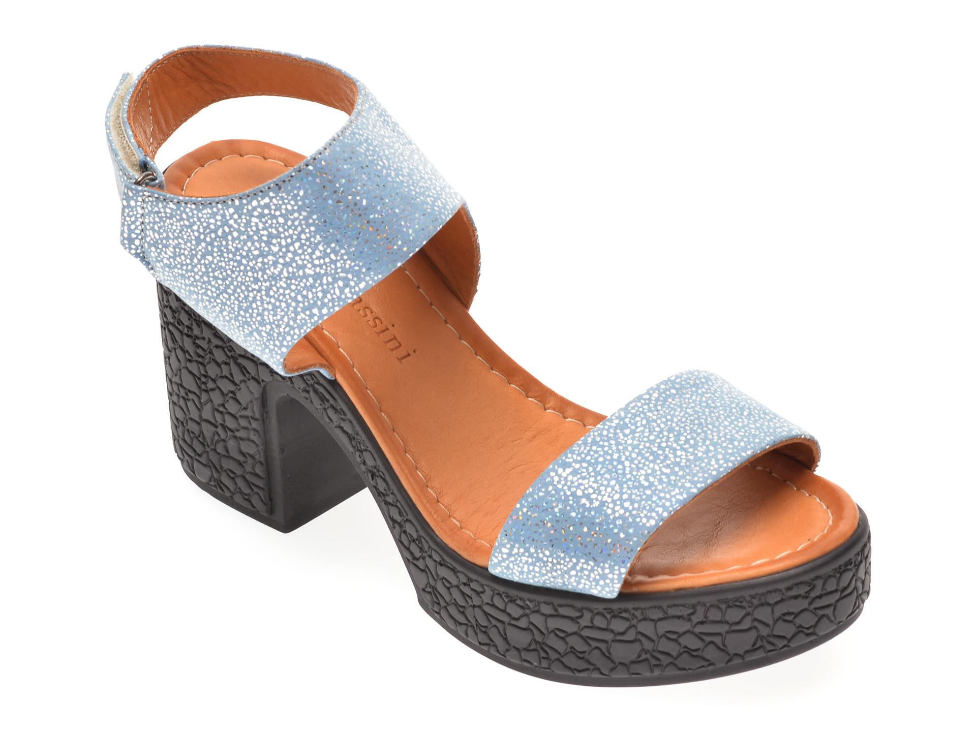 Sandale FLAVIA PASSINI albastre, 1181335, din piele naturala New