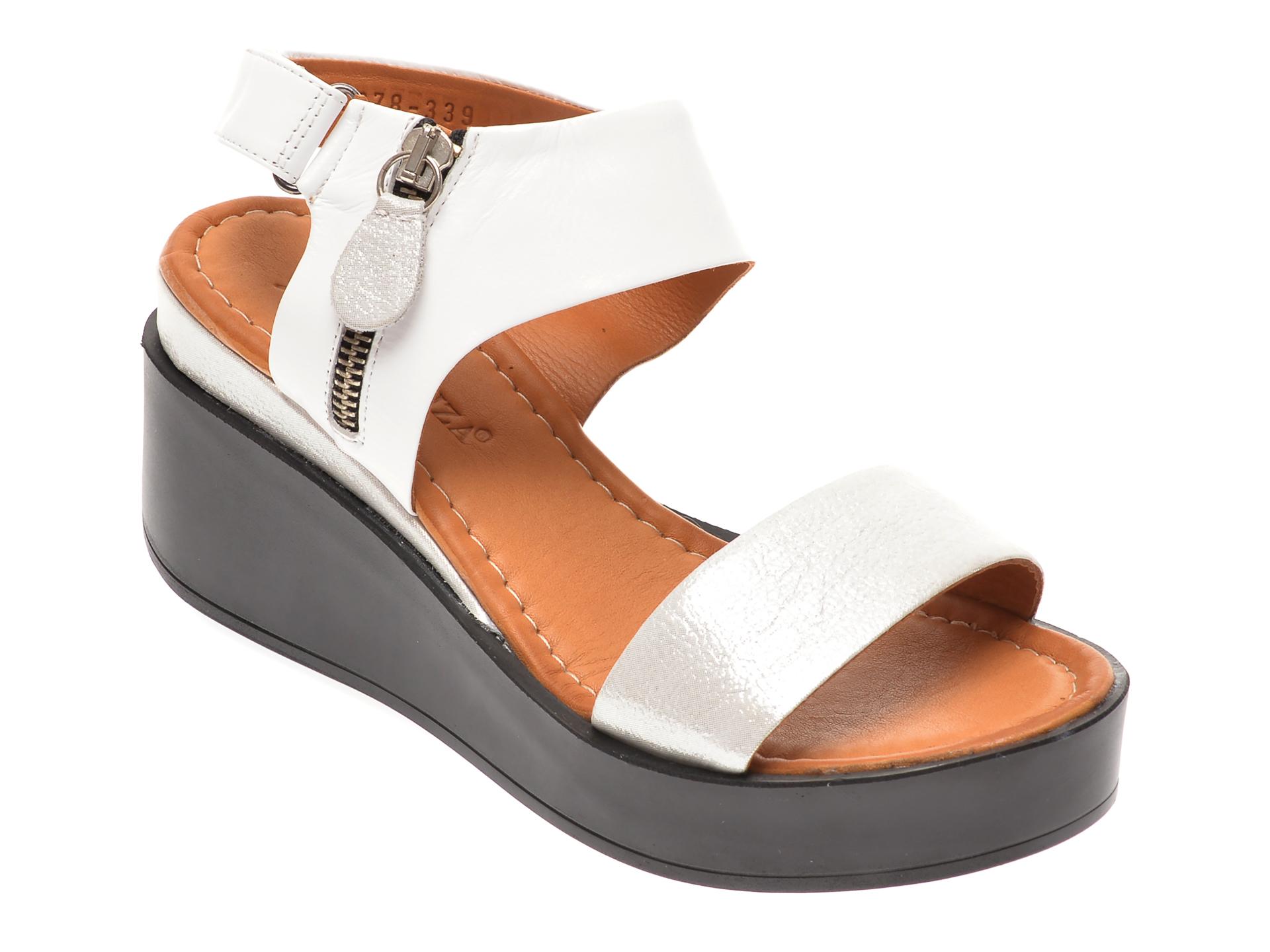 Sandale FLAVIA PASSINI albe, 1181078, din piele naturala