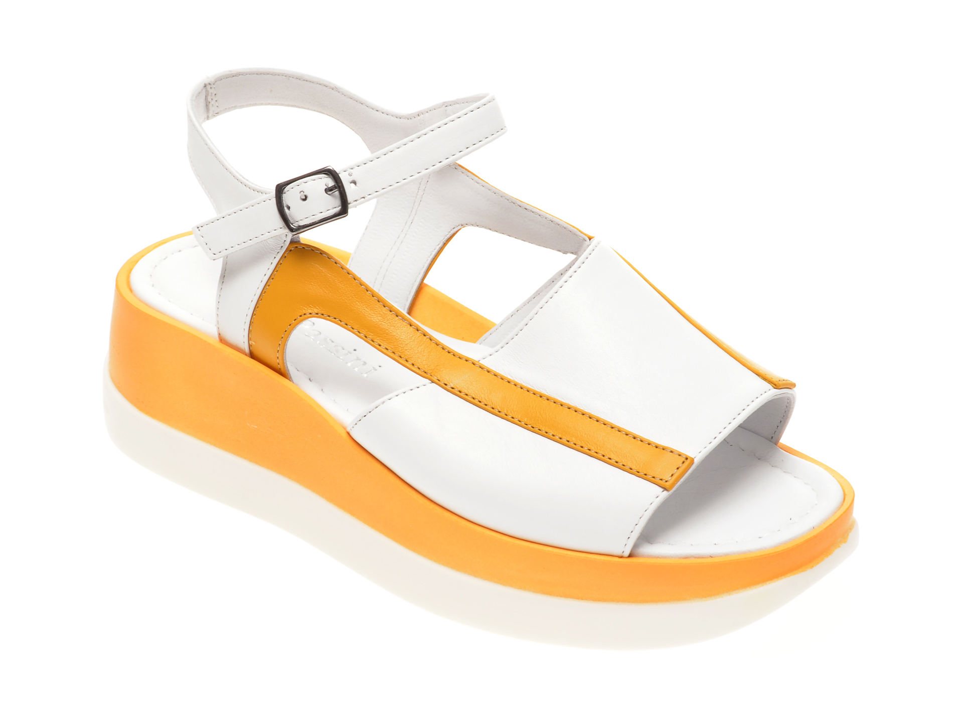 Sandale FLAVIA PASSINI albe, 1182390, din piele naturala