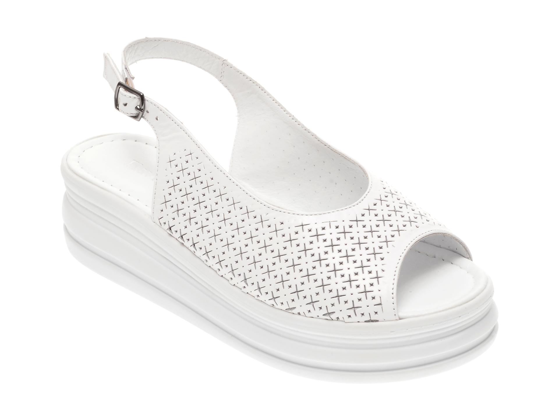 Sandale FLAVIA PASSINI albe, 1182722, din piele naturala