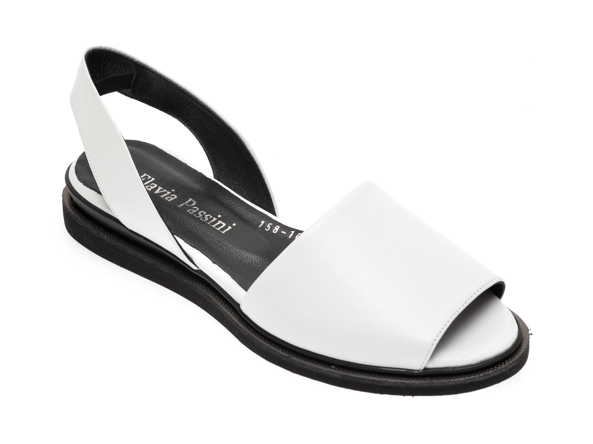Sandale FLAVIA PASSINI albe, 1581051, din piele naturala imagine otter.ro 2021
