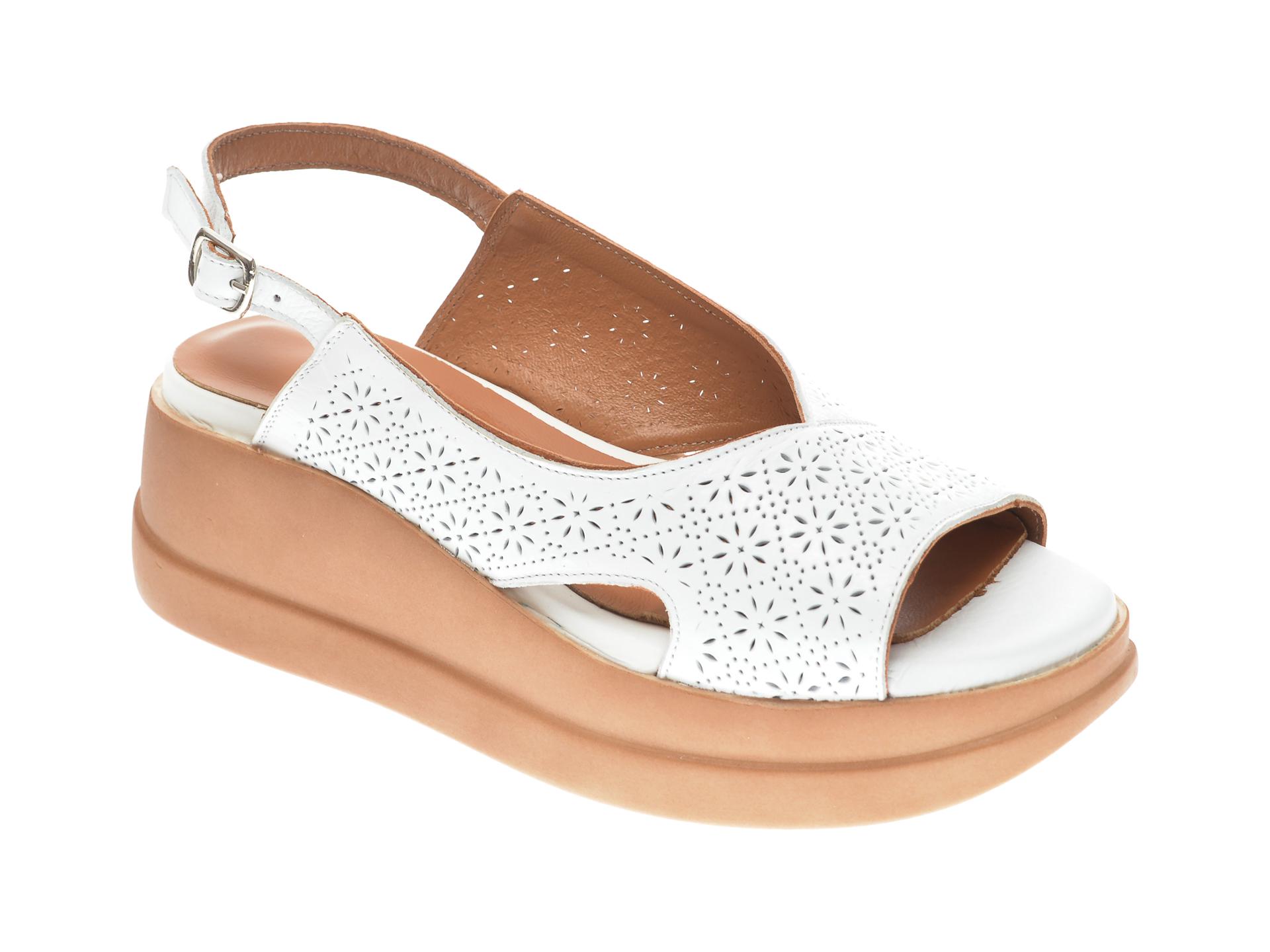 Sandale FLAVIA PASSINI albe, 20405, din piele naturala New