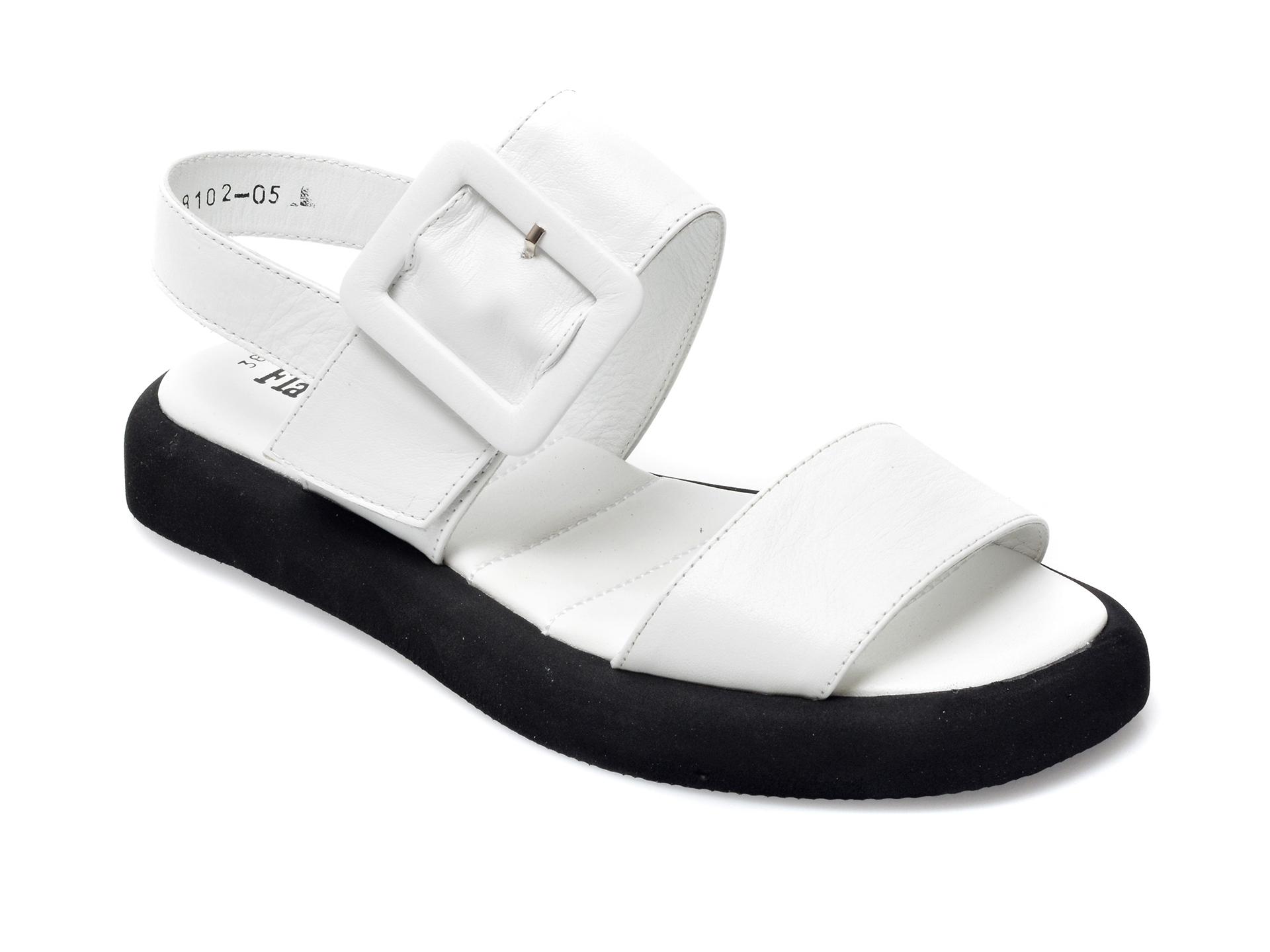 Sandale FLAVIA PASSINI albe, 2048102, din piele naturala imagine otter.ro 2021