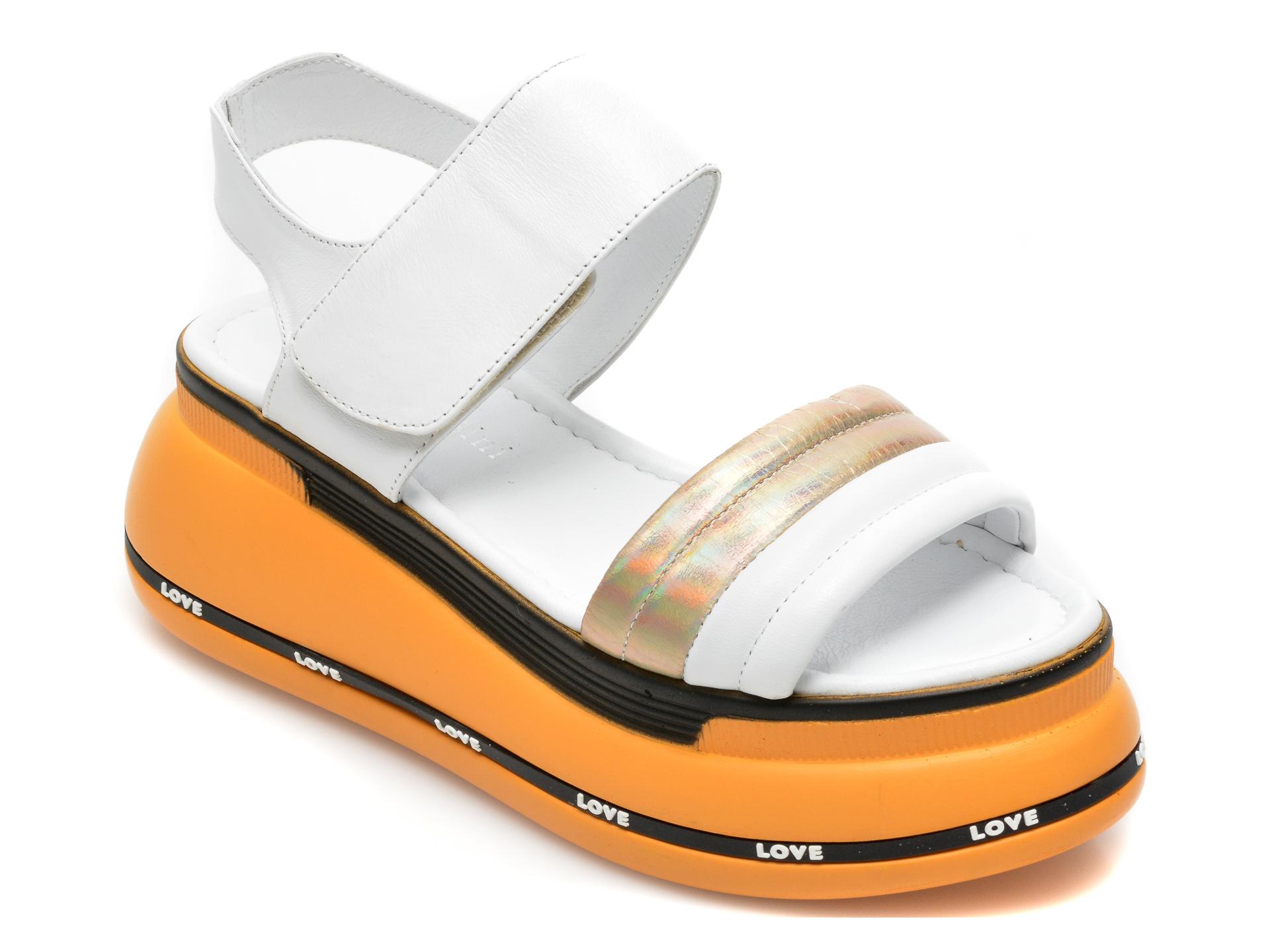 Sandale FLAVIA PASSINI albe, 2490G, din piele naturala imagine 2021 Flavia Passini