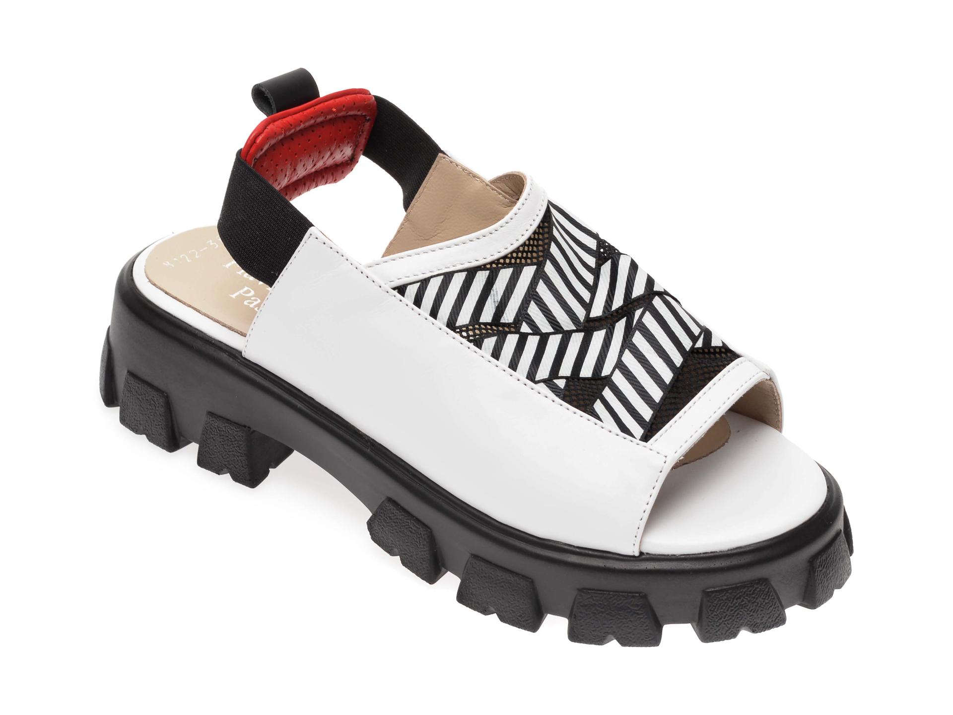 Sandale FLAVIA PASSINI albe, 3068122, din piele naturala