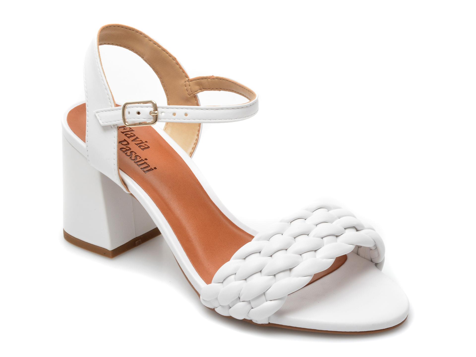 Sandale FLAVIA PASSINI albe, 320206, din piele ecologica imagine otter.ro 2021