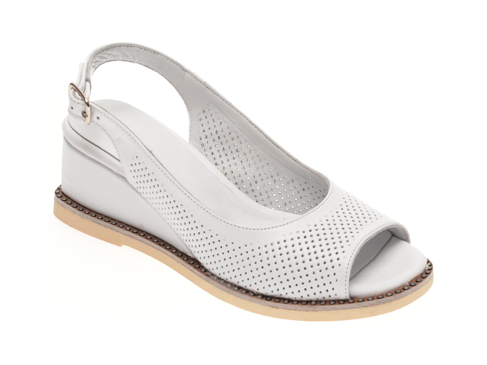 Sandale FLAVIA PASSINI albe, 4145, din piele naturala