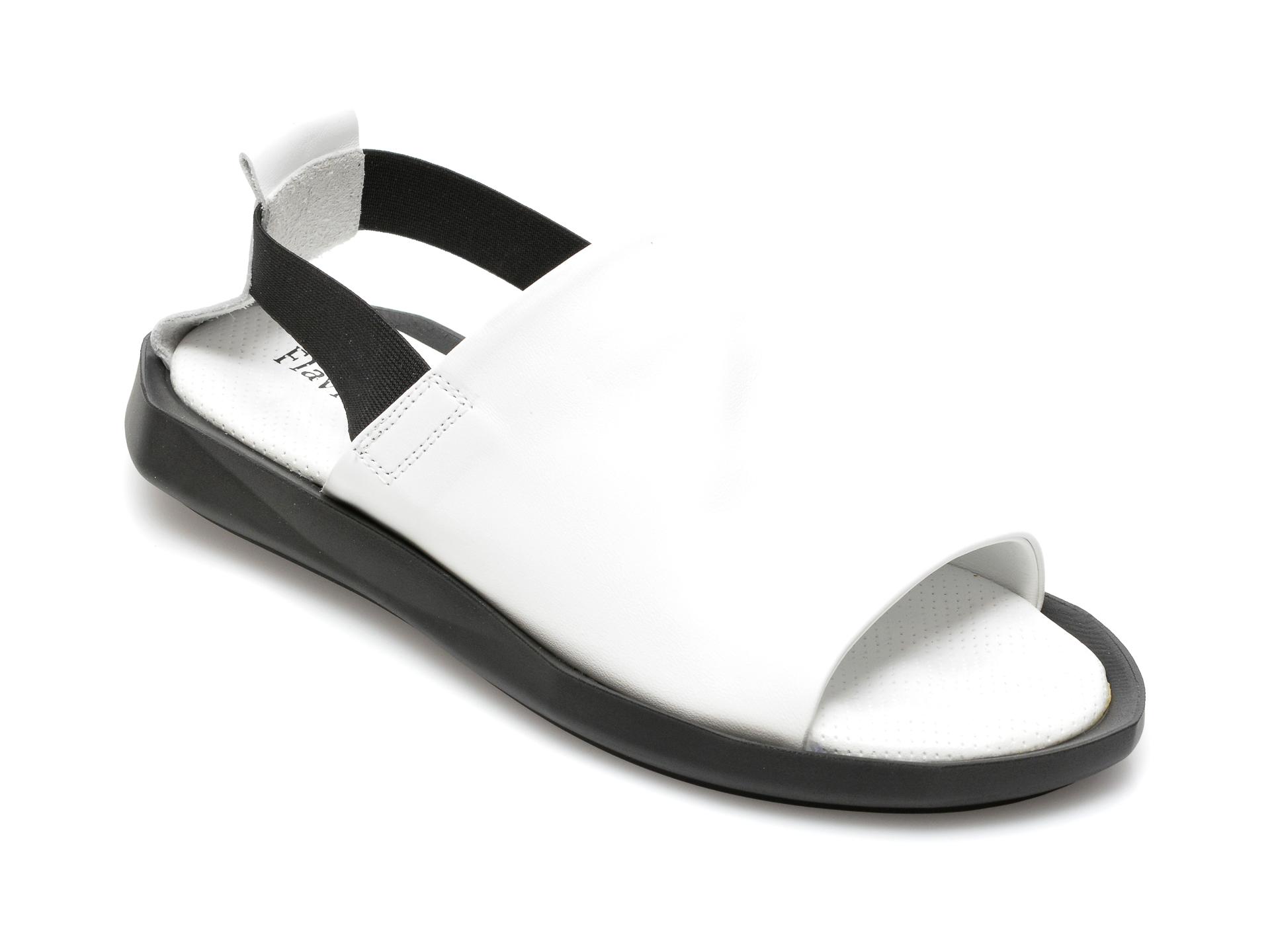 Sandale FLAVIA PASSINI albe, 42641, din piele naturala imagine otter.ro 2021