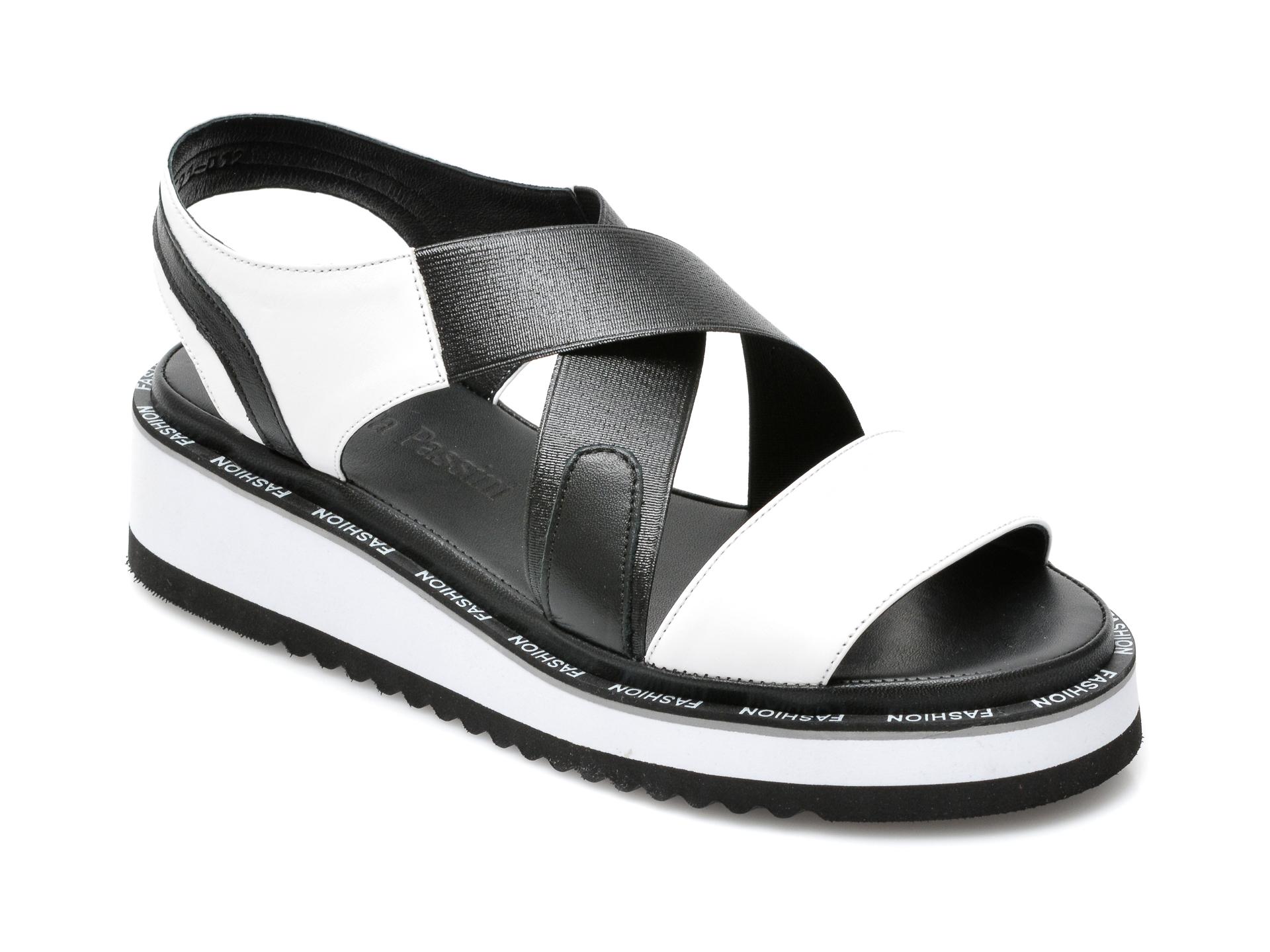 Sandale FLAVIA PASSINI albe, 591012, din material textil si piele naturala imagine otter.ro 2021