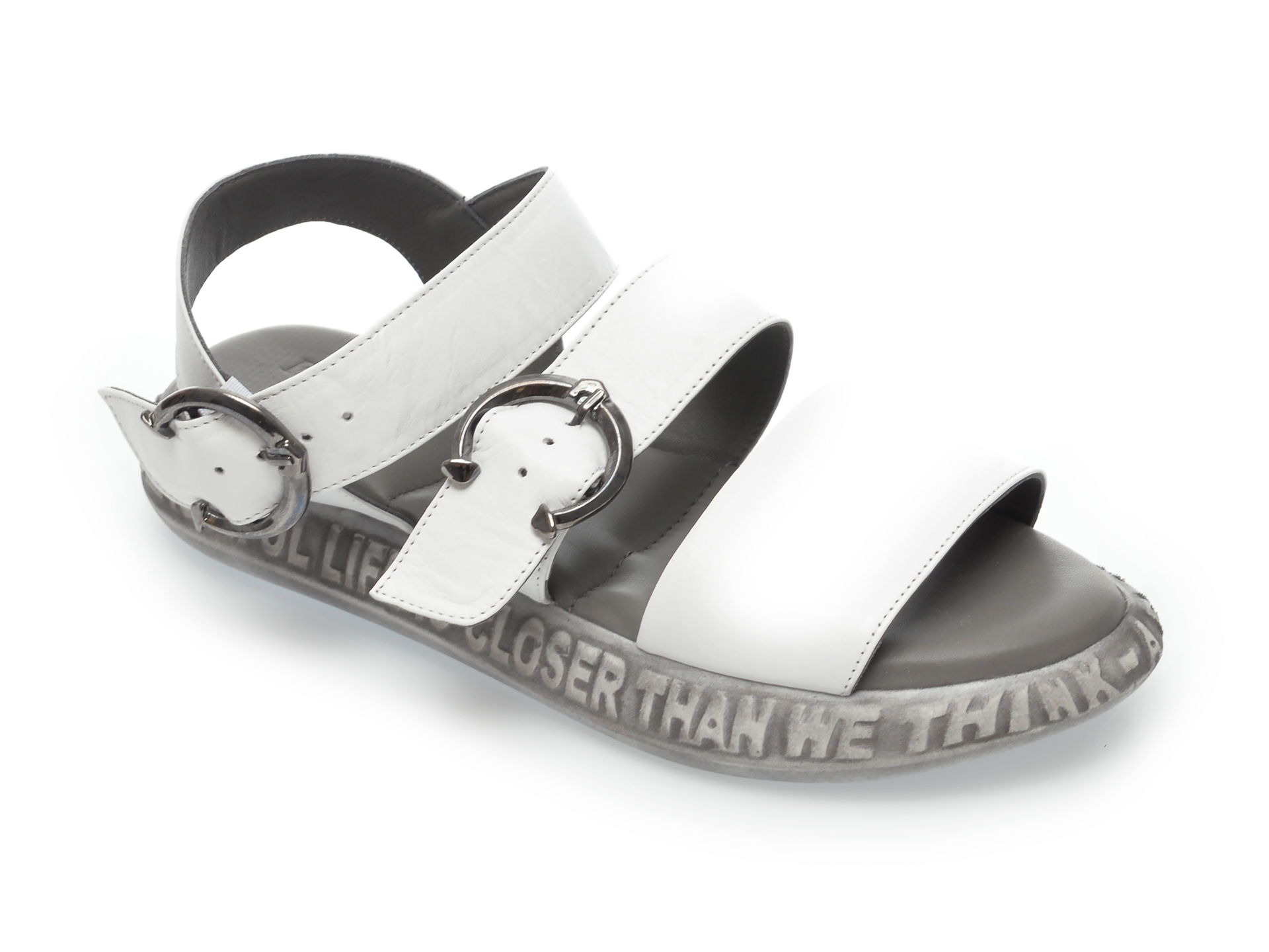 Sandale FLAVIA PASSINI albe, 60010, din piele naturala imagine otter.ro 2021