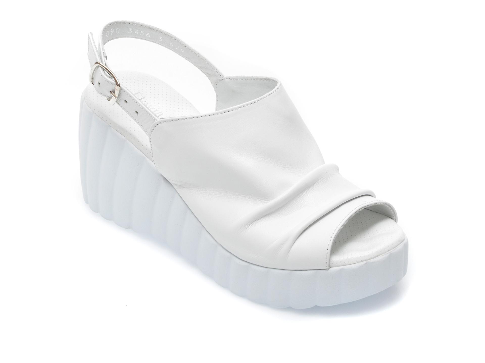 Sandale FLAVIA PASSINI albe, 903463, din piele naturala imagine otter.ro 2021