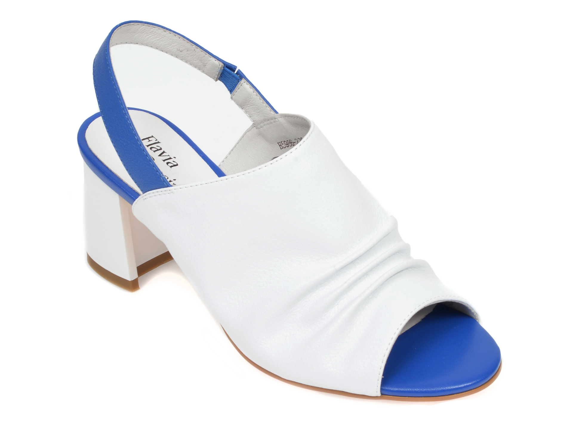 Sandale FLAVIA PASSINI albe, H598622, din piele naturala imagine