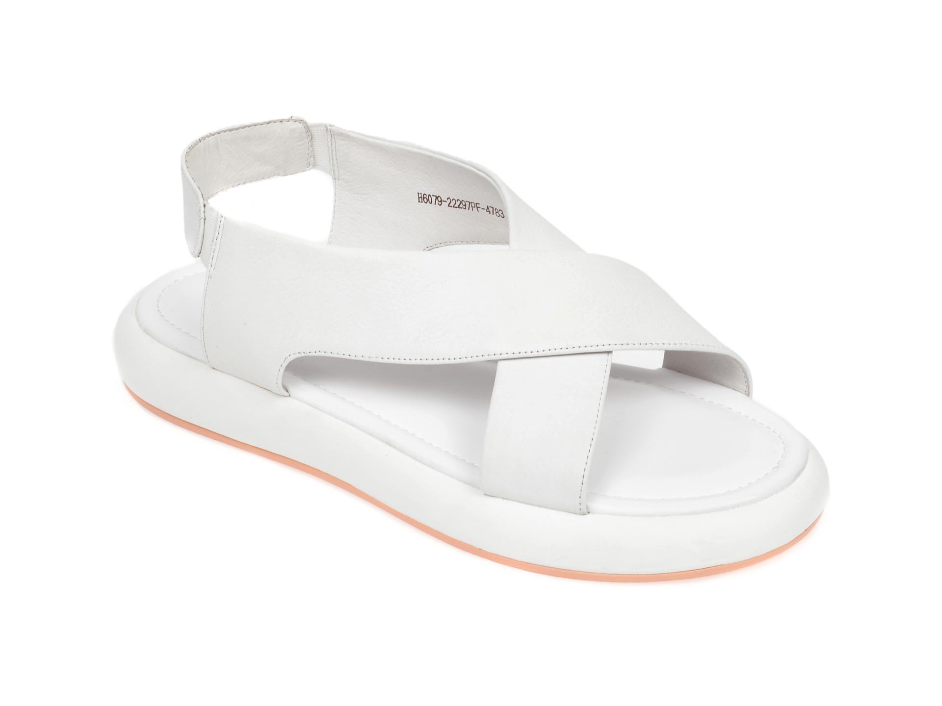 Sandale FLAVIA PASSINI albe, H607922, din piele naturala