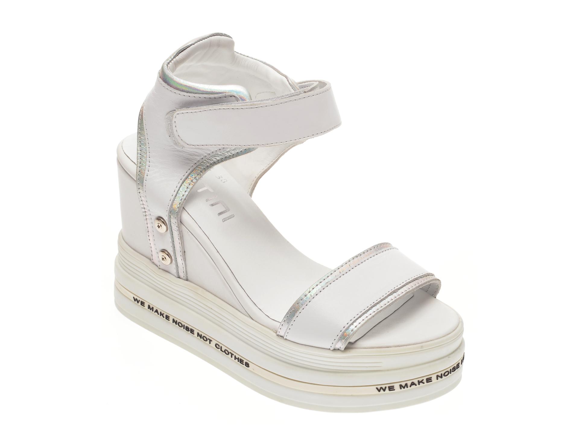 Sandale FLAVIA PASSINI albe, P12, din piele naturala