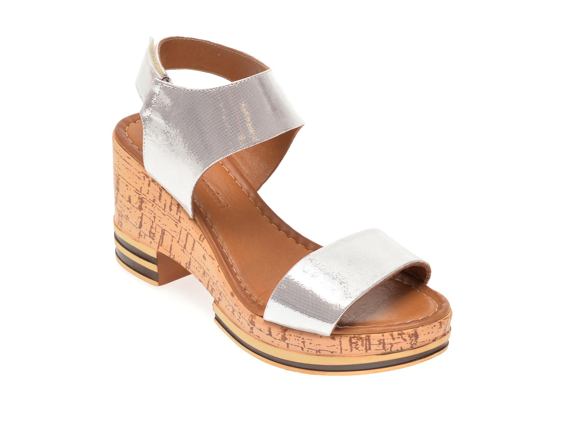 Sandale FLAVIA PASSINI argintii, 1182725, din piele naturala