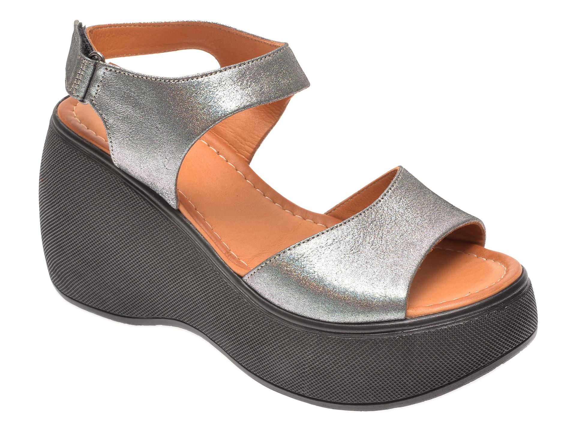 Sandale FLAVIA PASSINI argintii 2482, din piele naturala imagine
