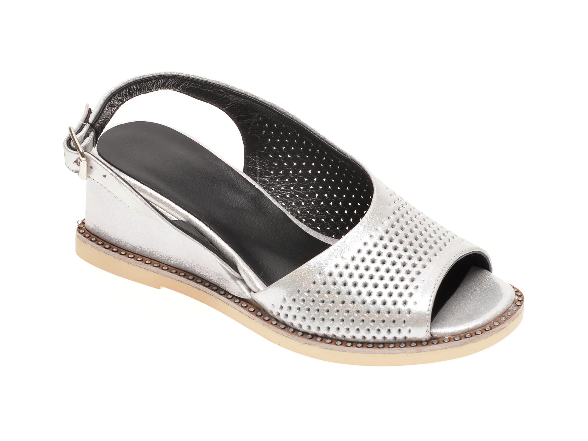 Sandale FLAVIA PASSINI argintii, 4030, din piele naturala