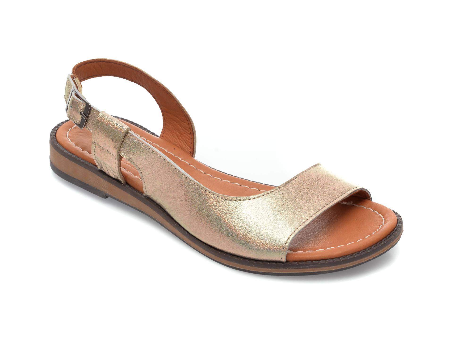 Sandale FLAVIA PASSINI aurii, 21, din piele naturala New
