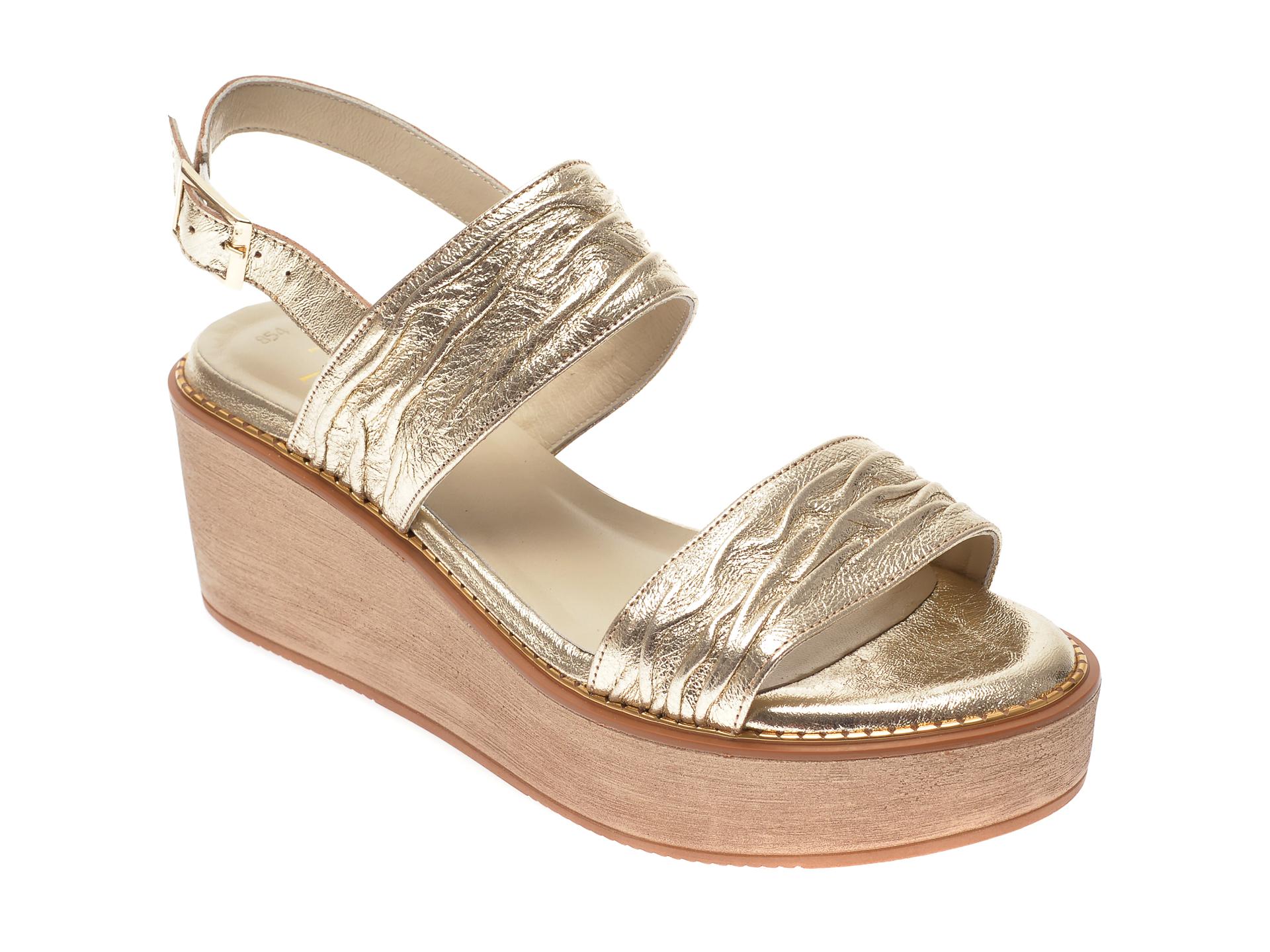 Sandale FLAVIA PASSINI aurii, 854, din piele naturala