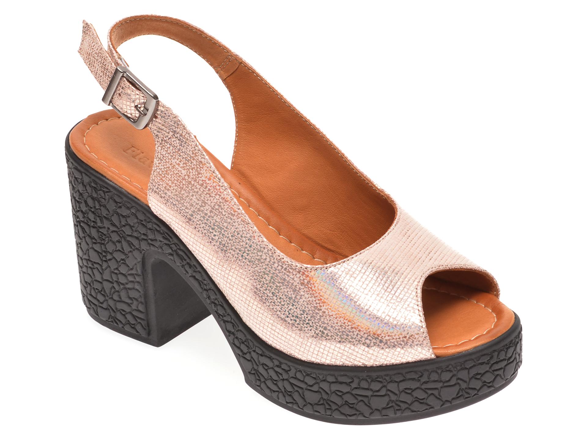 Sandale FLAVIA PASSINI bej, 1181735, din piele naturala imagine