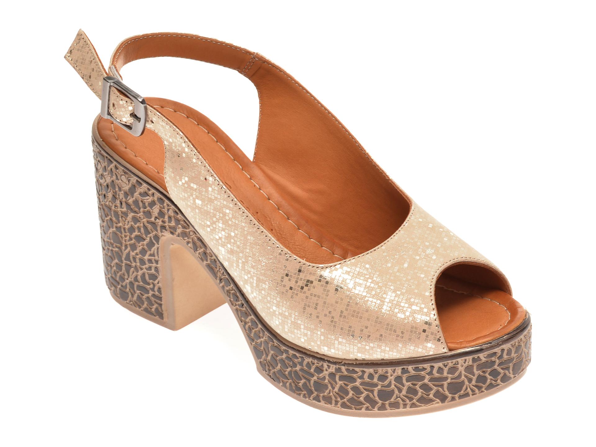 Sandale FLAVIA PASSINI bej, 1181735, din piele naturala New