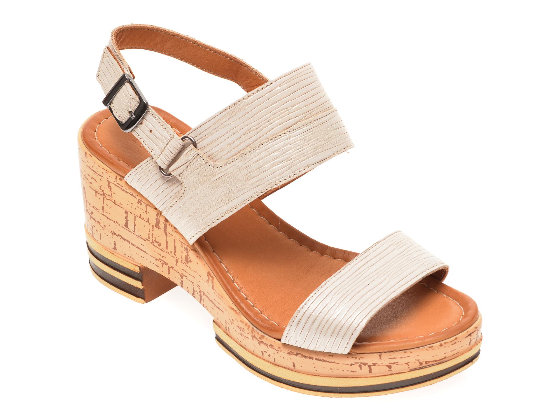 Sandale FLAVIA PASSINI bej, 1182731, din piele naturala