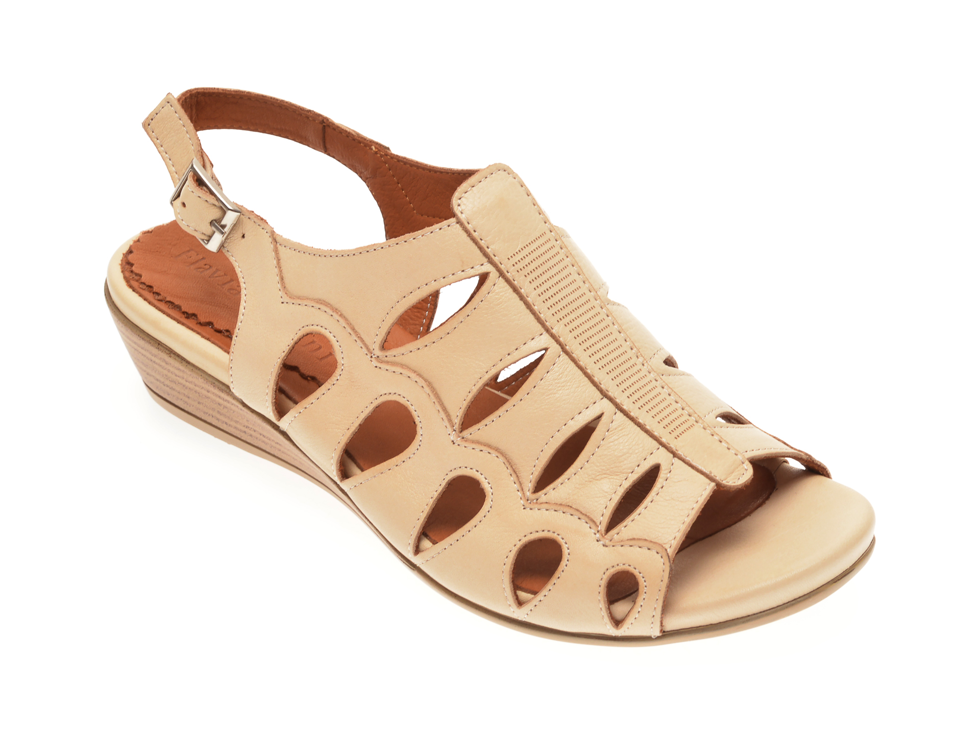 Sandale FLAVIA PASSINI bej, 125Y3, din piele naturala