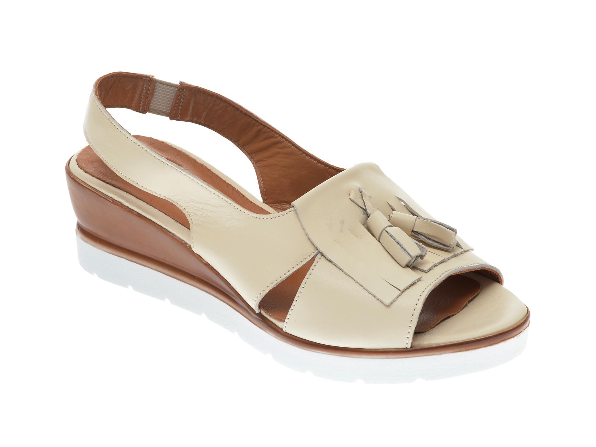 Sandale FLAVIA PASSINI bej, 20608, din piele naturala