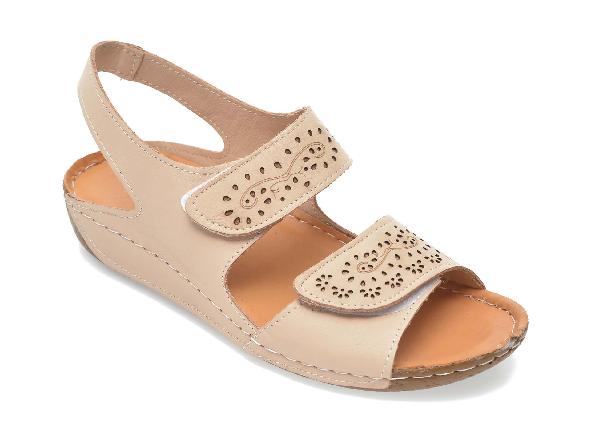 Sandale FLAVIA PASSINI bej 416, din piele naturala New