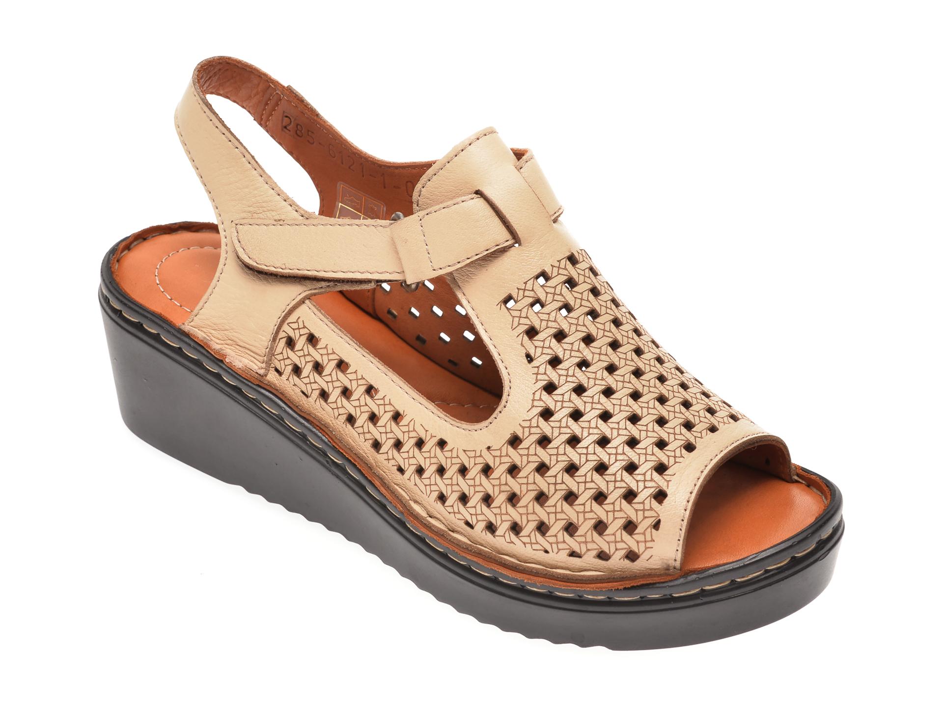 Sandale FLAVIA PASSINI bej, 61211, din piele naturala