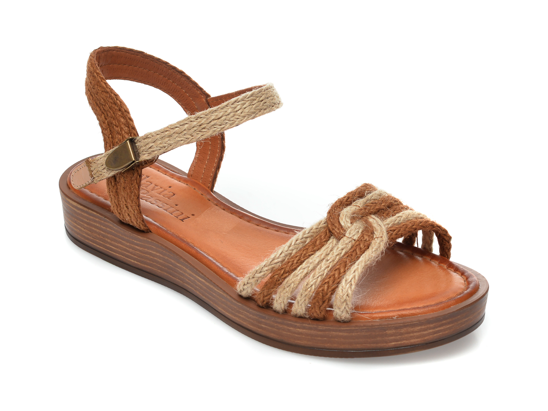 Sandale FLAVIA PASSINI bej, M2, din material textil imagine otter.ro 2021