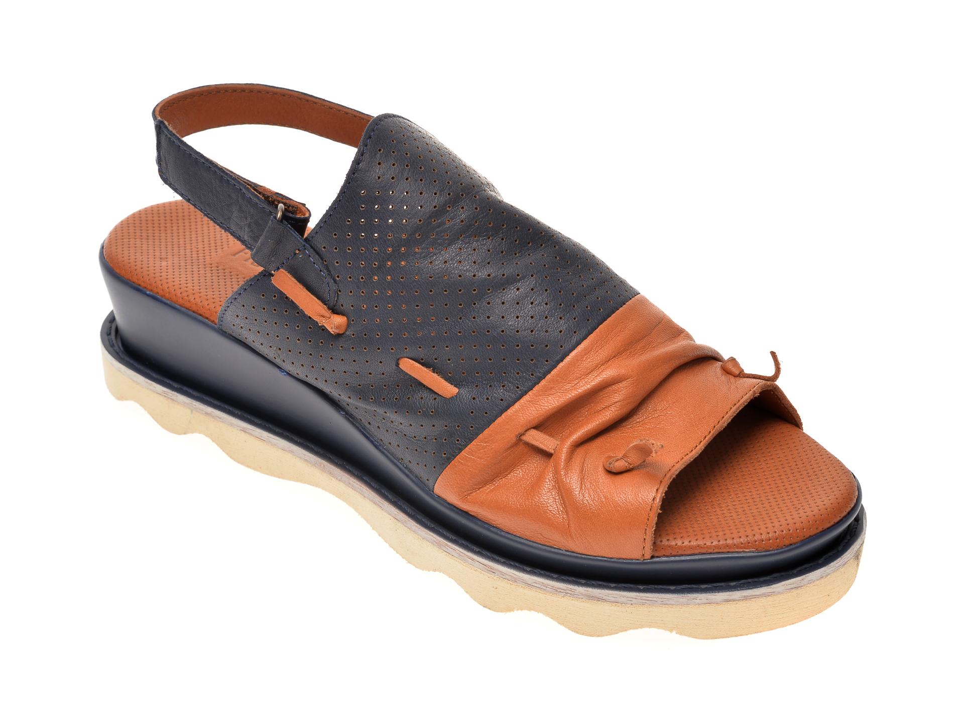 Sandale FLAVIA PASSINI bleumarin, 0206, din piele naturala