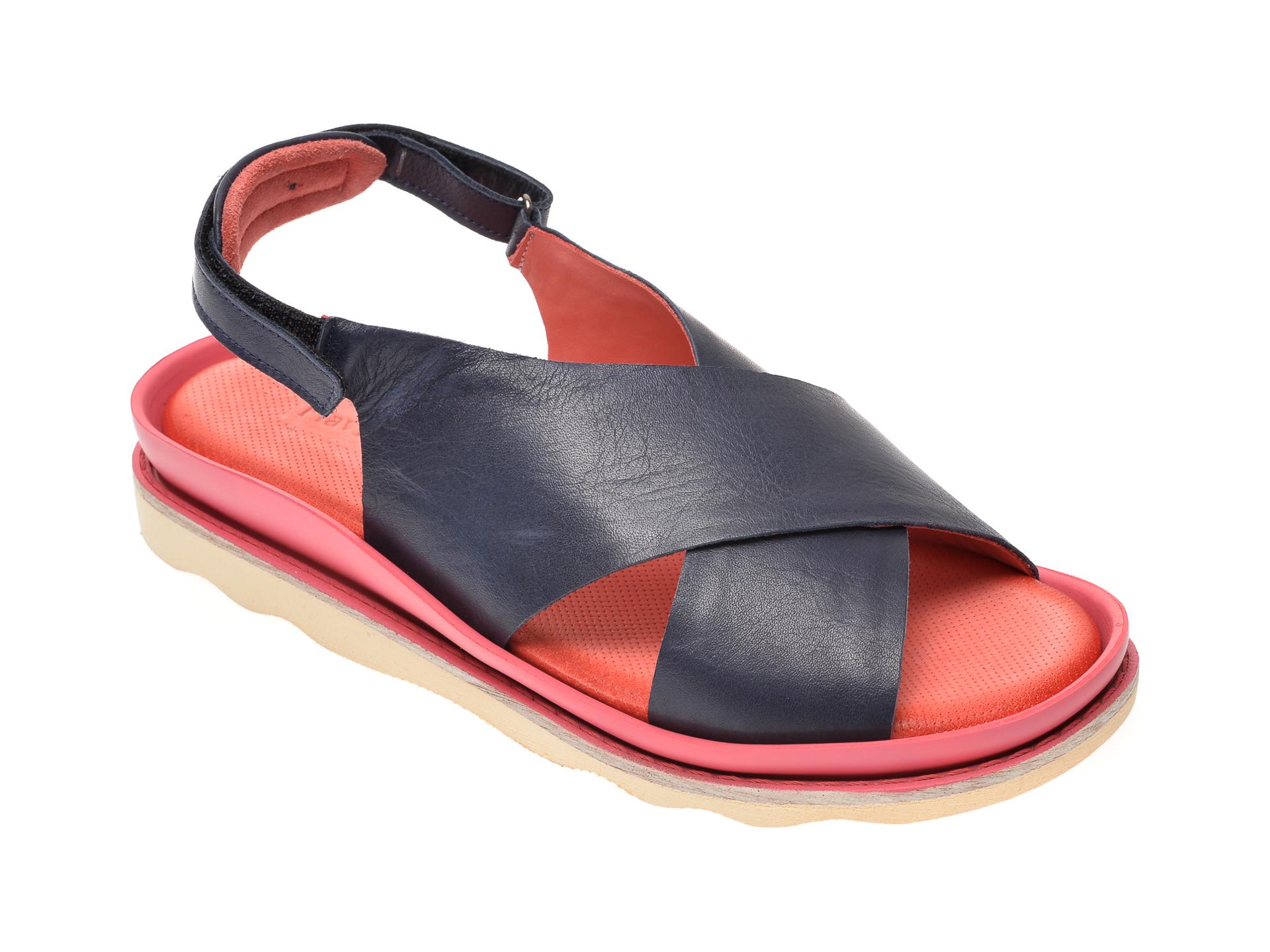 Sandale FLAVIA PASSINI bleumarin, 0403, din piele naturala