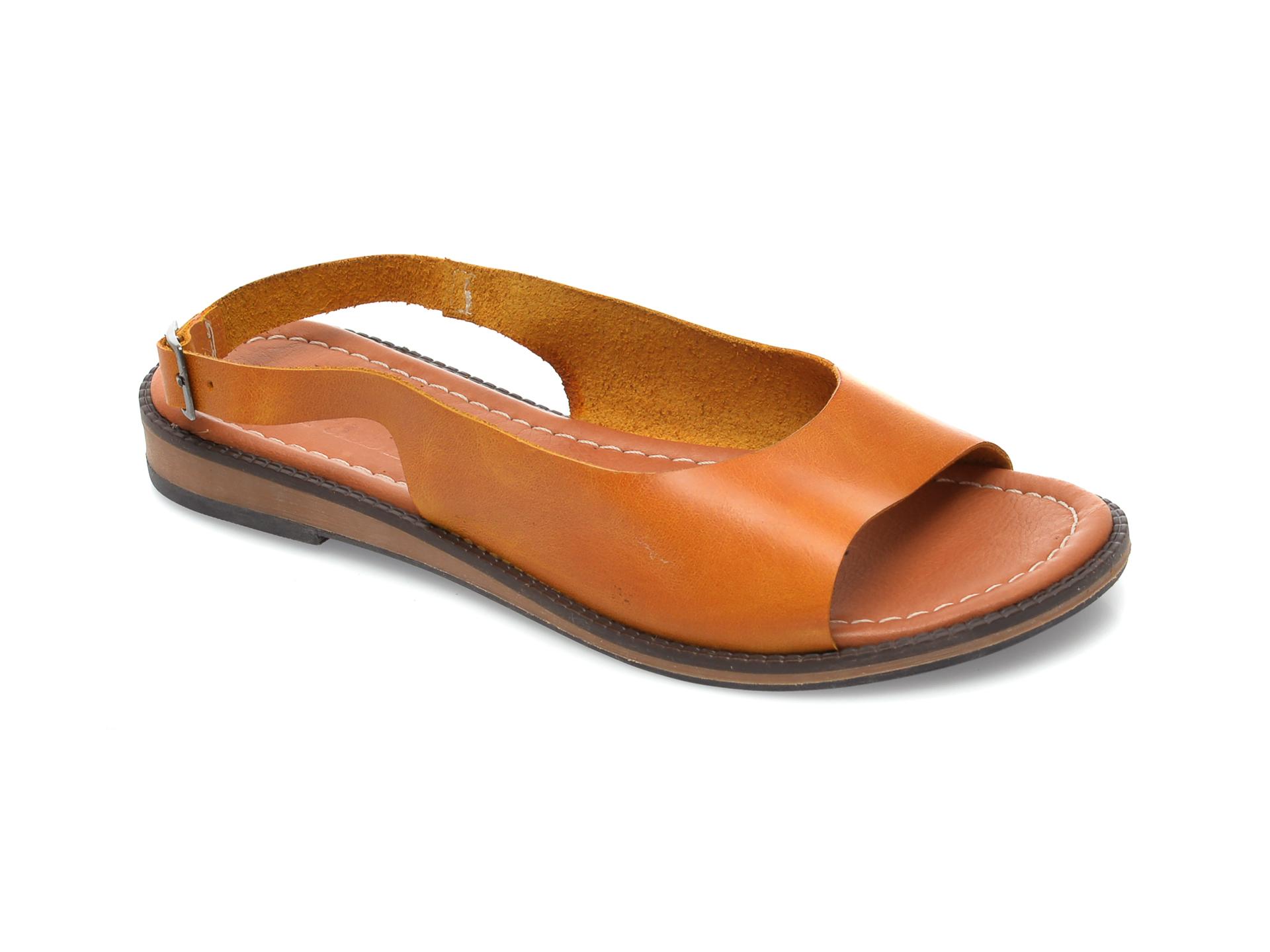 Sandale FLAVIA PASSINI galbene, 103, din piele naturala imagine otter.ro 2021