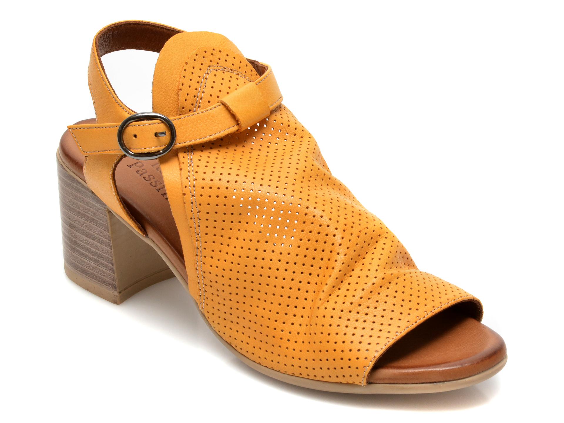 Sandale FLAVIA PASSINI galbene, 1700, din piele naturala imagine otter.ro 2021