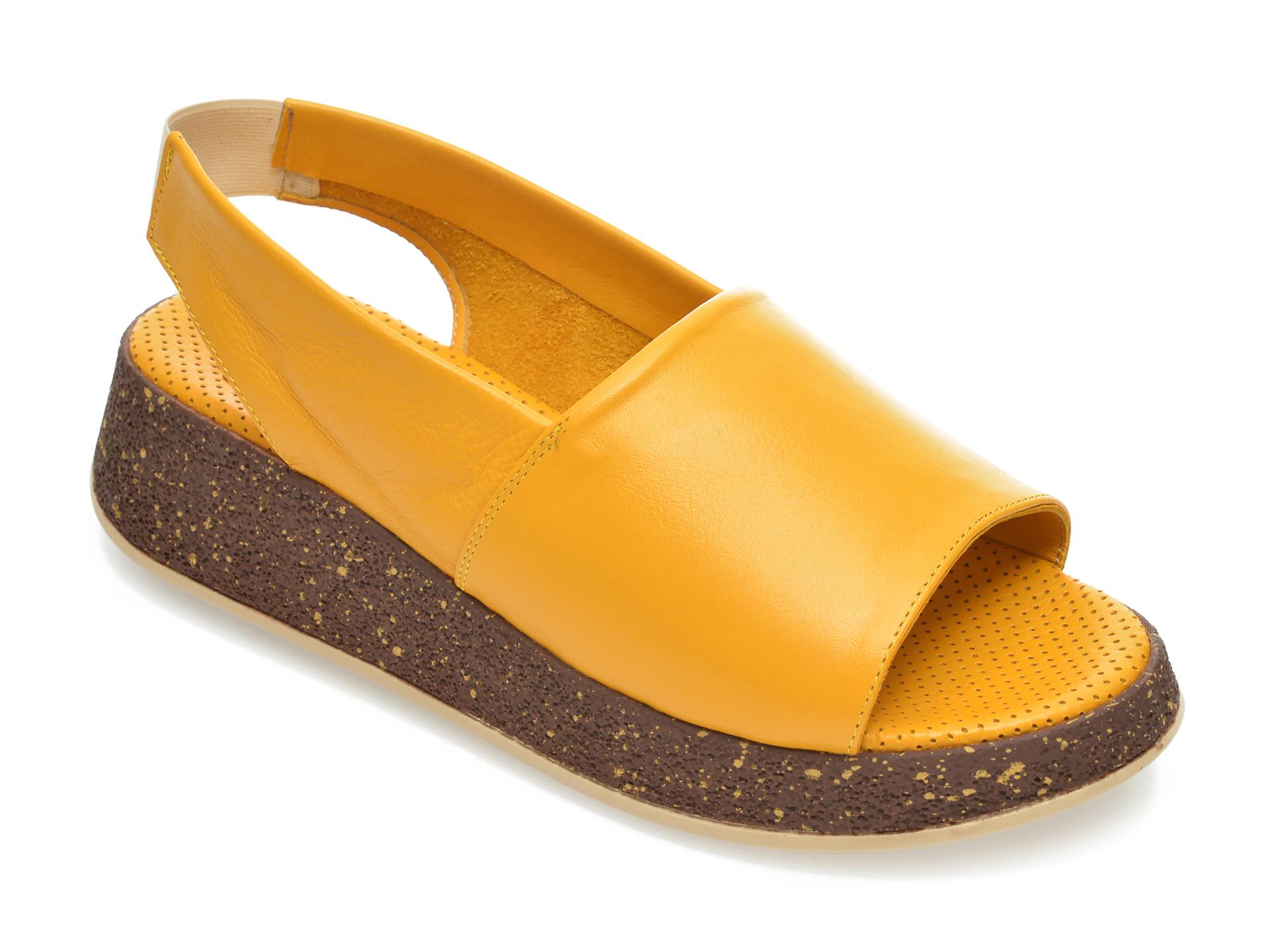 Sandale FLAVIA PASSINI galbene, 2103157, din piele naturala imagine otter.ro 2021