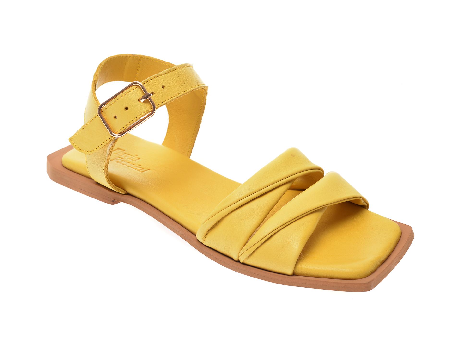 Sandale FLAVIA PASSINI galbene, 407, din piele naturala