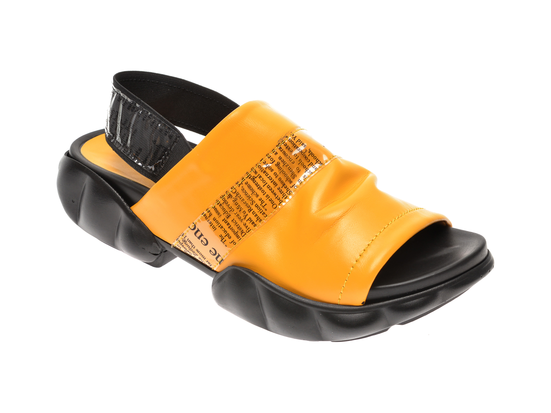 Sandale FLAVIA PASSINI galbene, 6292226, din piele naturala