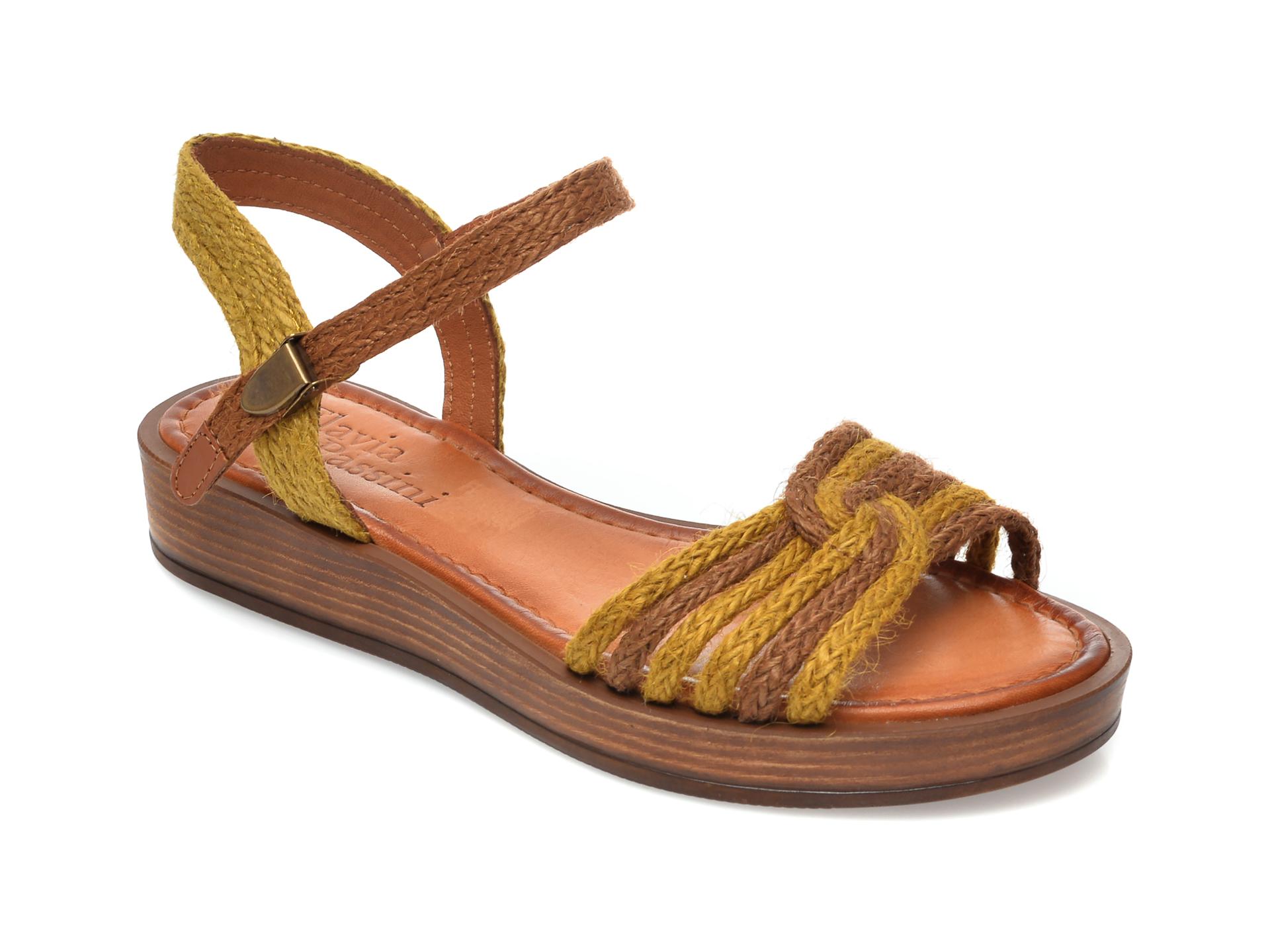 Sandale FLAVIA PASSINI galbene, M2, din material textil imagine otter.ro 2021