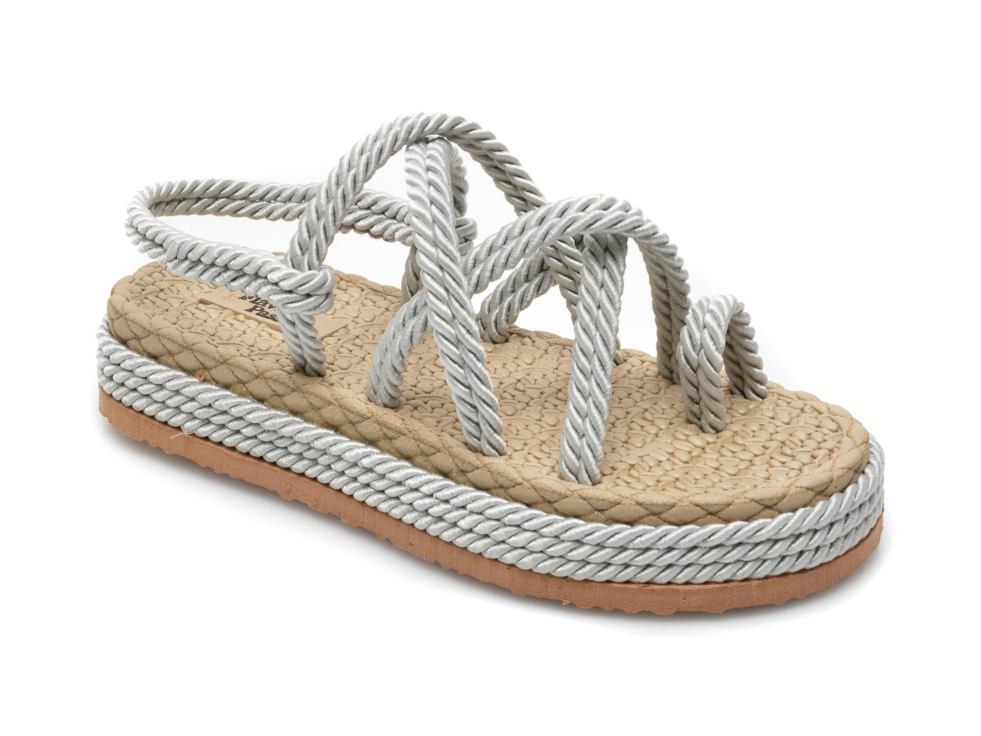 Sandale FLAVIA PASSINI gri, 1007, din material textil imagine otter.ro 2021