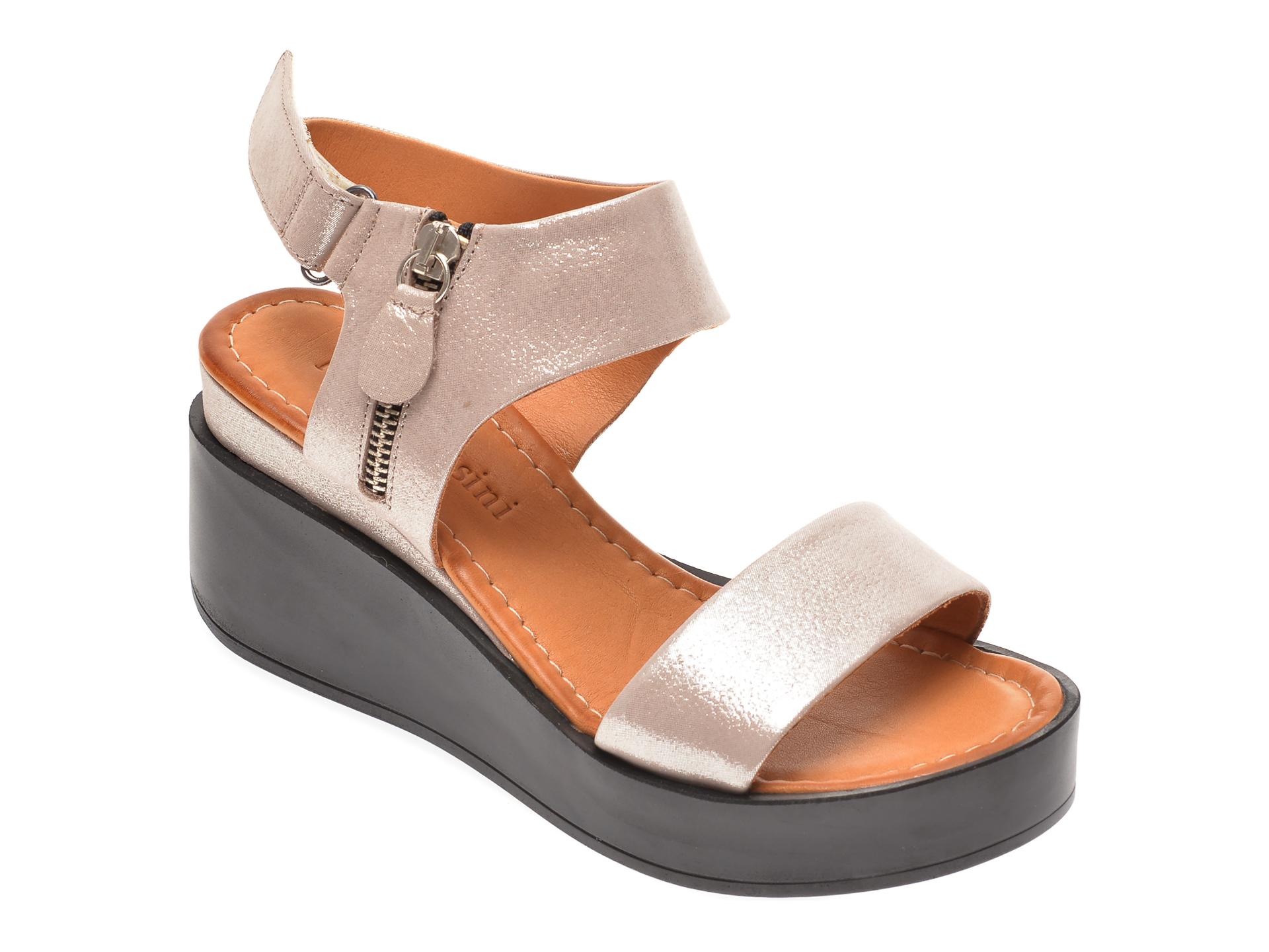 Sandale FLAVIA PASSINI gri, 1181078, din piele naturala