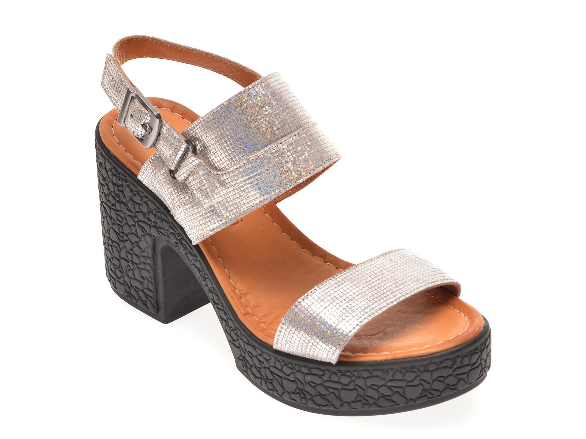 Sandale FLAVIA PASSINI gri, 1181762, din piele naturala
