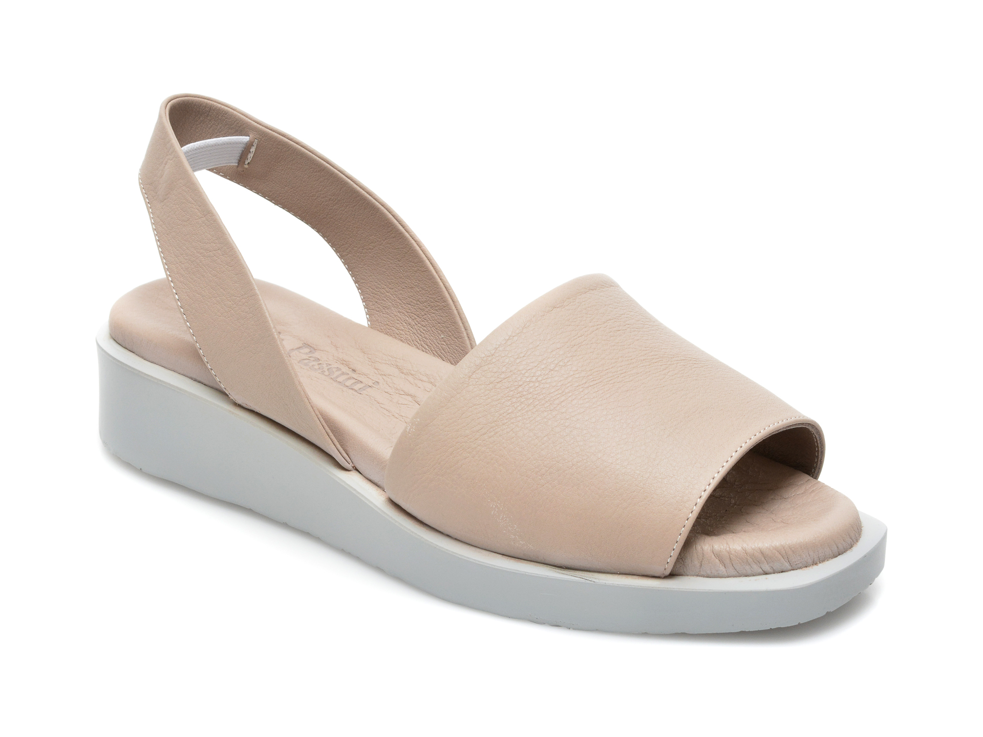Sandale FLAVIA PASSINI gri, 1582018, din piele naturala imagine otter.ro 2021