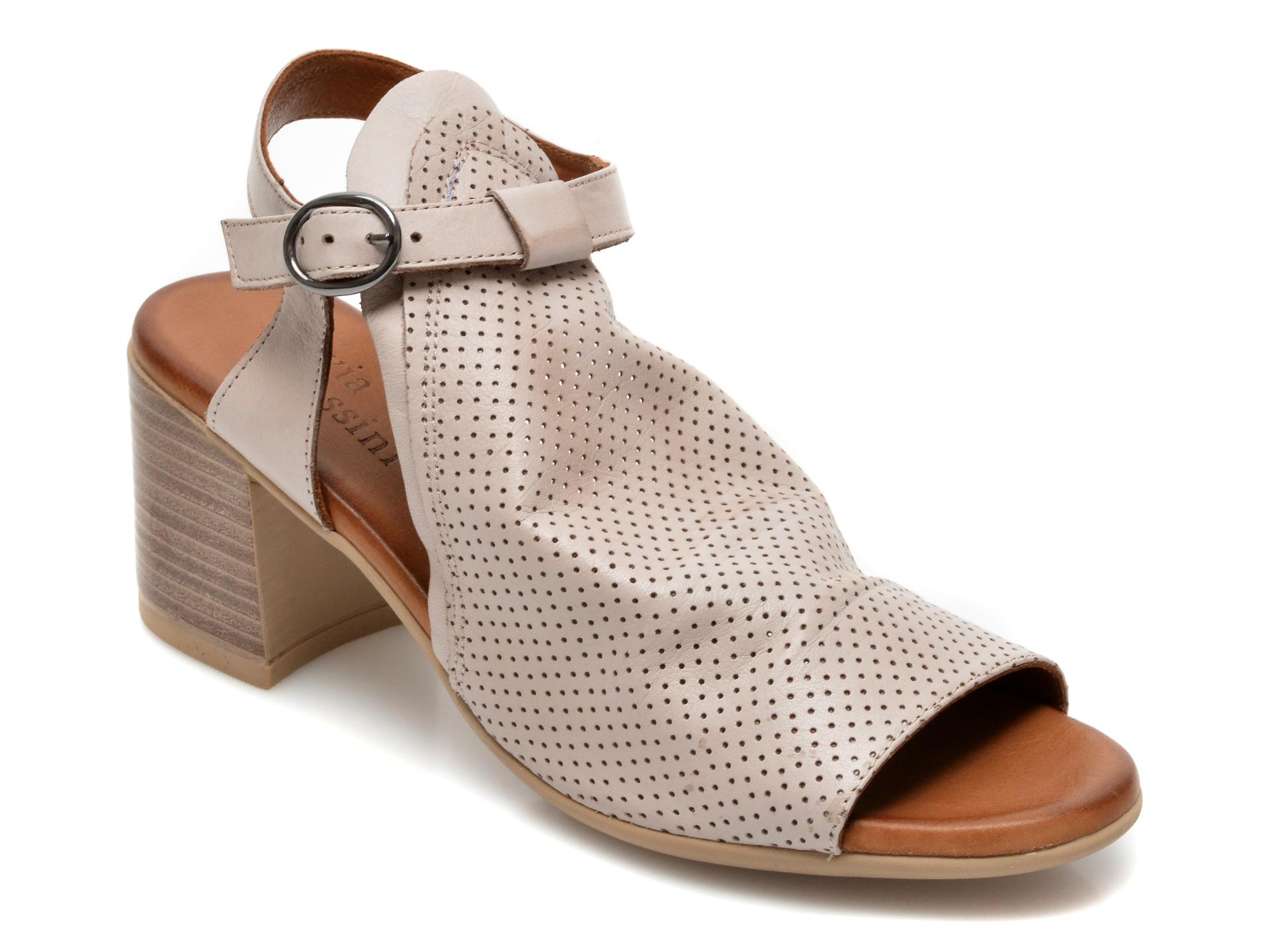 Sandale FLAVIA PASSINI gri, 1700, din piele naturala imagine otter.ro 2021