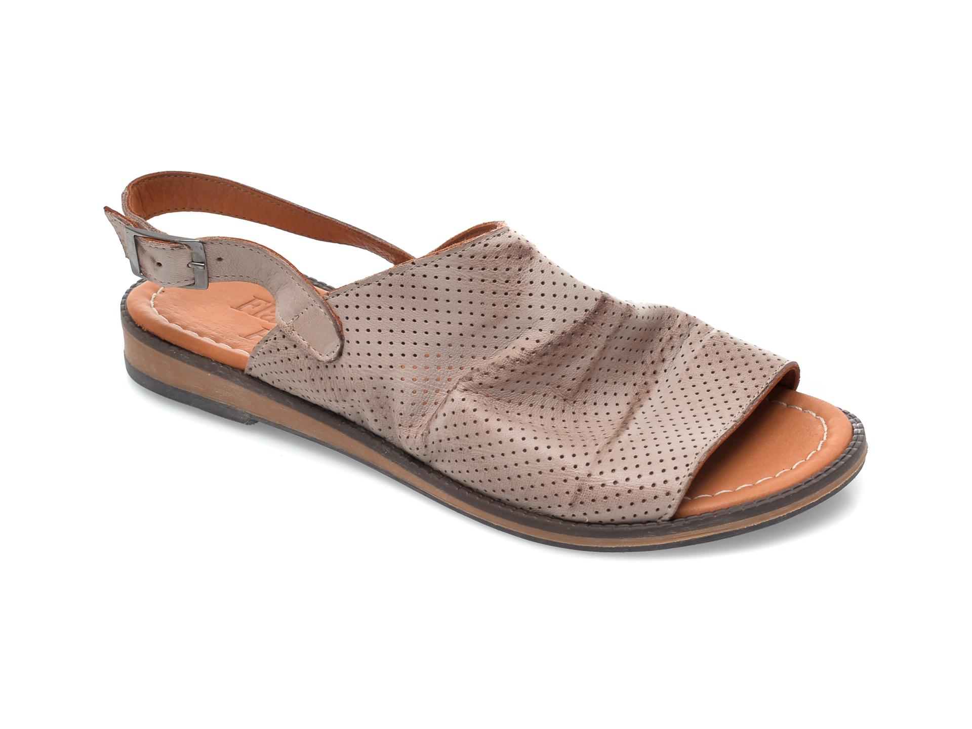 Sandale FLAVIA PASSINI gri, 201, din piele naturala imagine otter.ro 2021