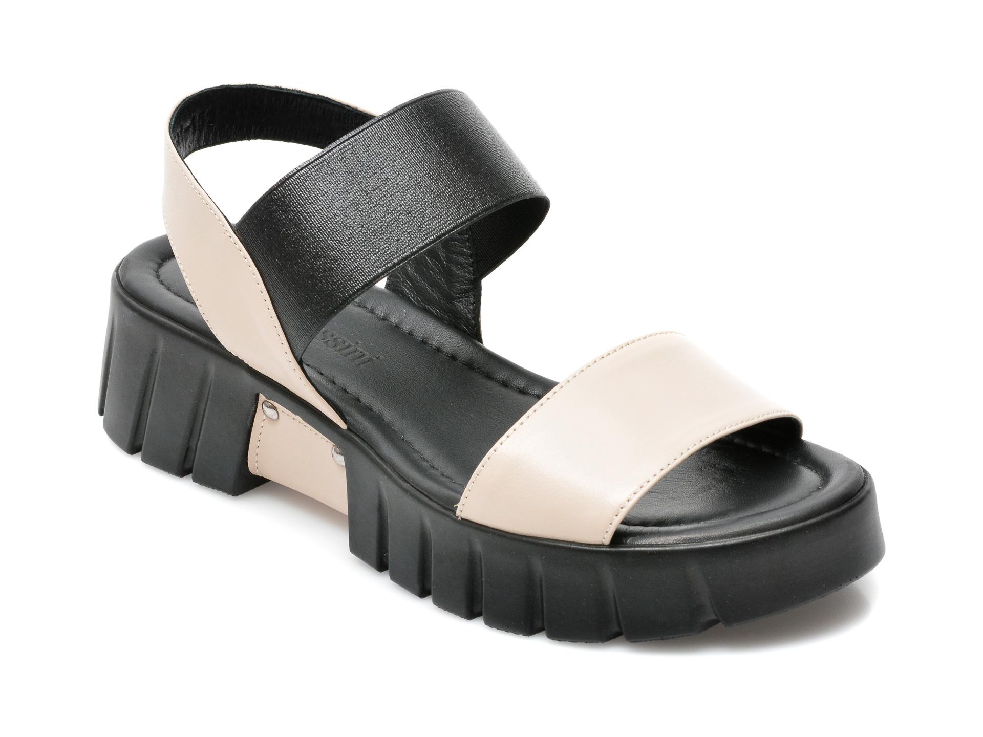 Sandale FLAVIA PASSINI gri, 591152, din material textil si piele naturala imagine otter.ro 2021