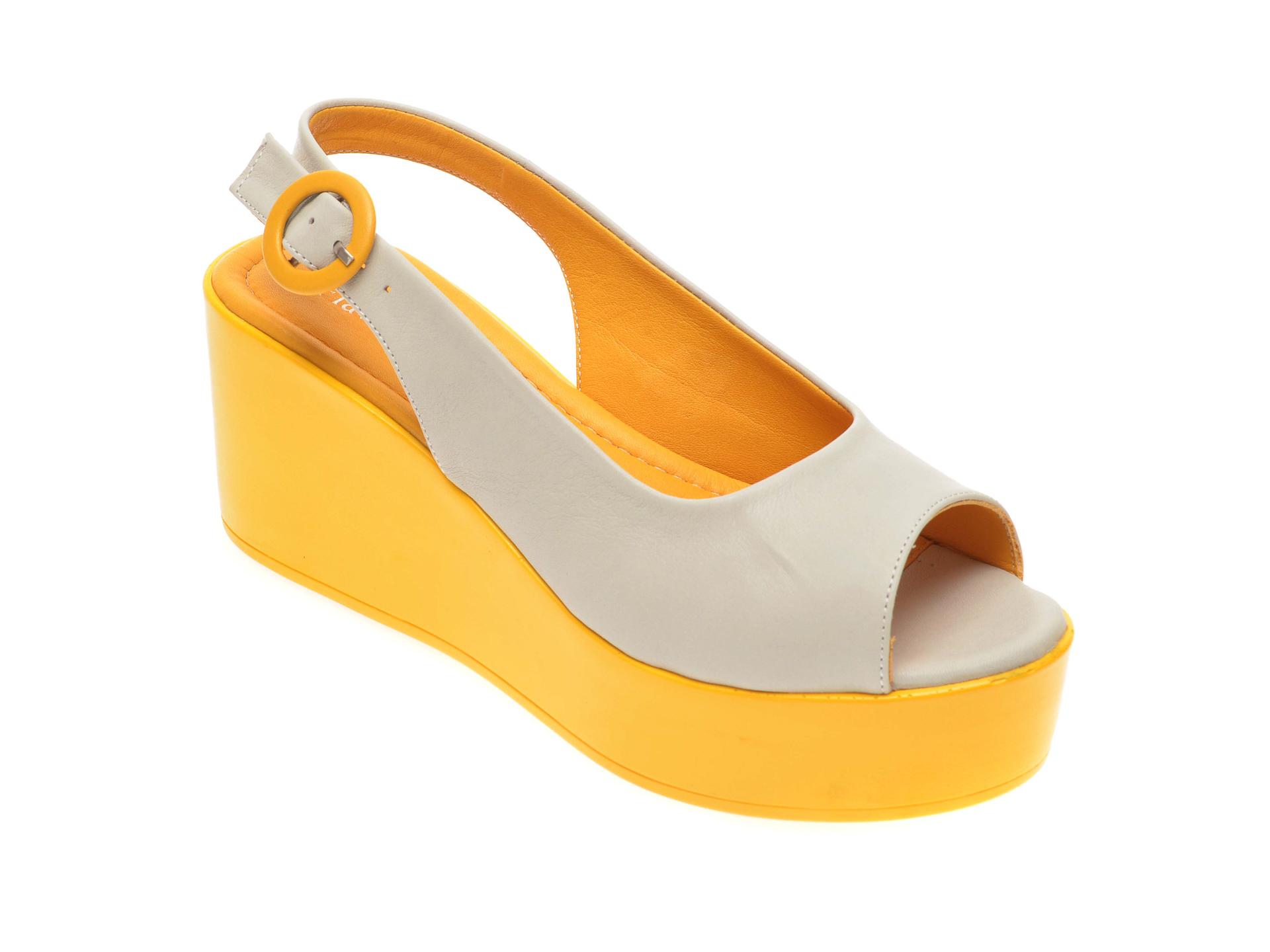 Sandale FLAVIA PASSINI gri, 6292162, din piele naturala