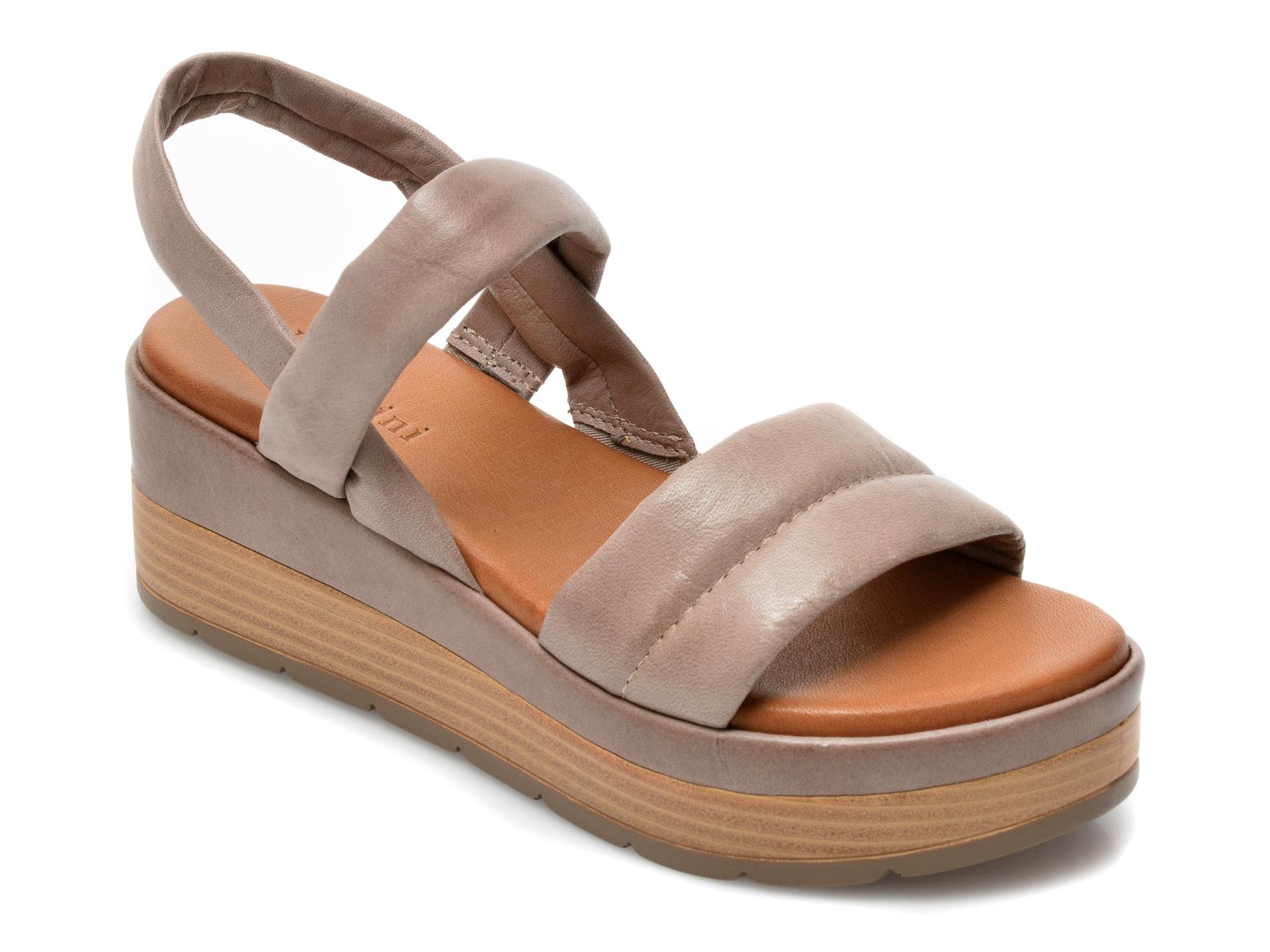Sandale FLAVIA PASSINI gri, ES3012, din piele naturala imagine otter.ro 2021