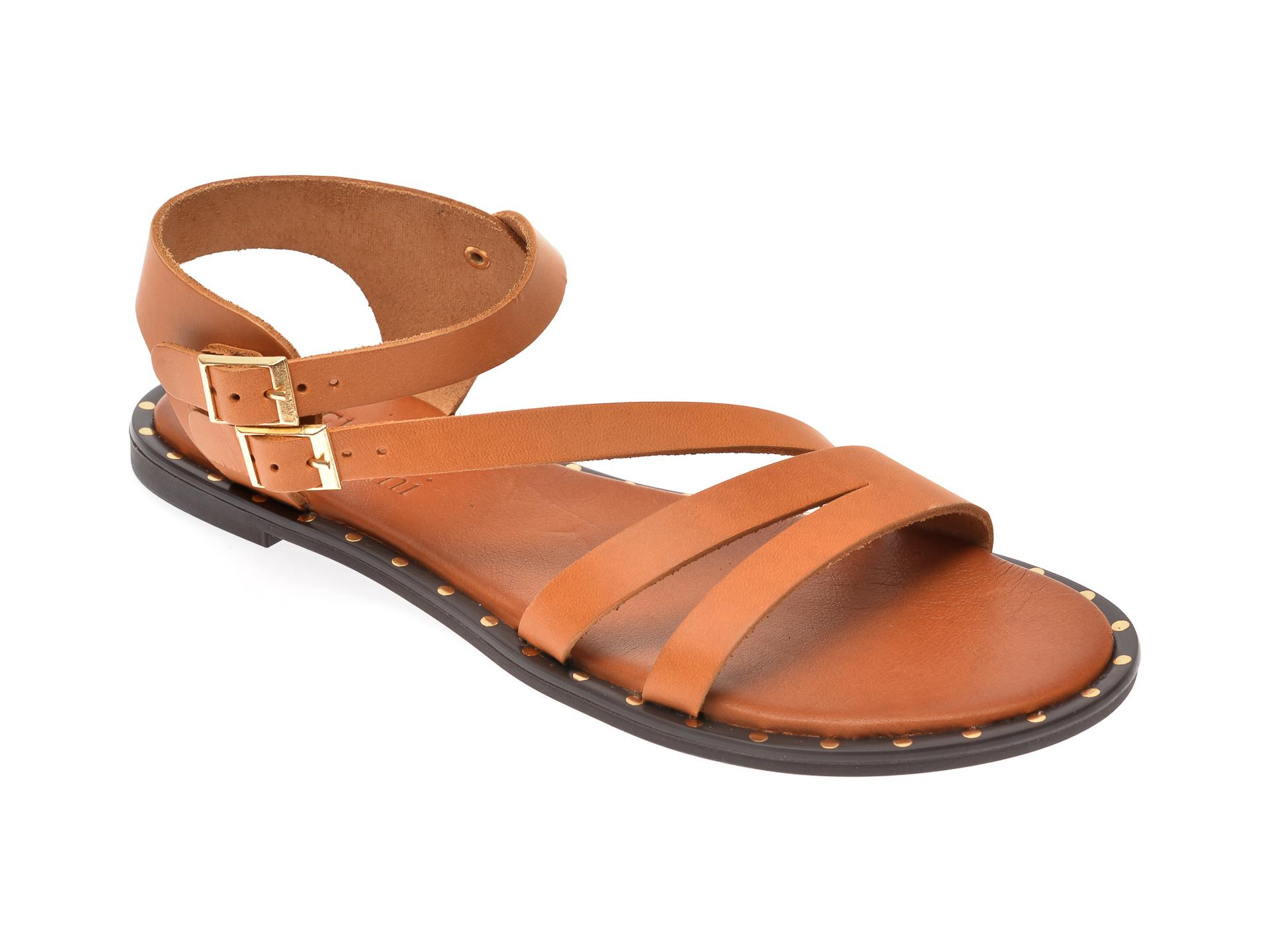 Sandale FLAVIA PASSINI maro, 1031, din piele naturala