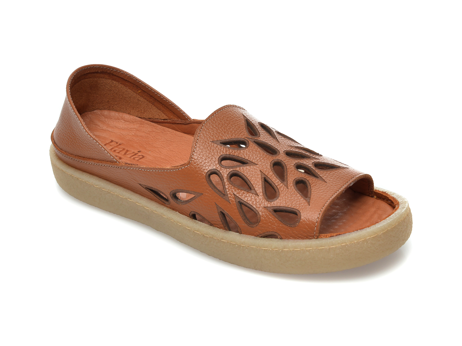 Sandale FLAVIA PASSINI maro, 20710, din piele naturala imagine otter.ro 2021